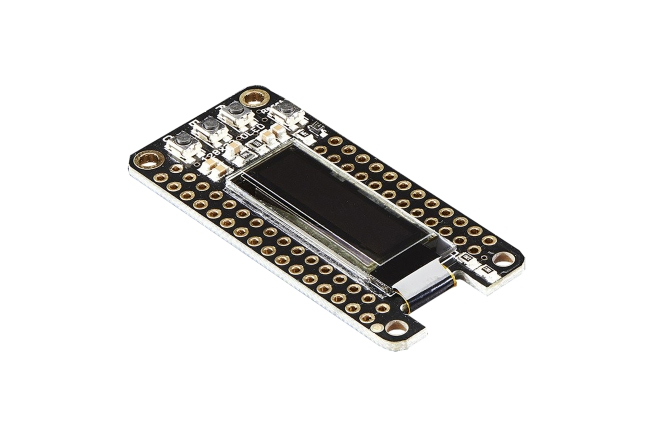 A product image for Adafruit FeatherWing OLED – 128×32 OLED Add-on – 2900