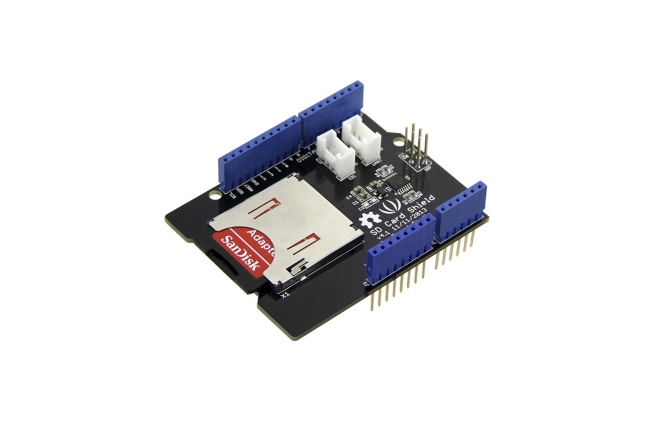 A product image for SD CARD SHIELD V4.1 FOR ARDUINO