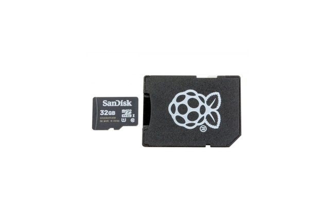 A product image for Raspberry Pi Noobs Preloaded MicroSD Card 32Gb