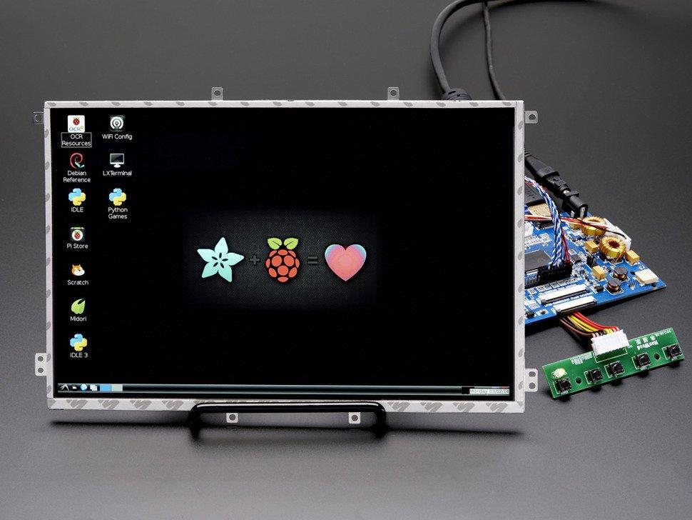 """Adafruit 10.1"""" Display & Audio 1280x800 IPS - HDMI/VGA/NTSC/PAL - 1694"""