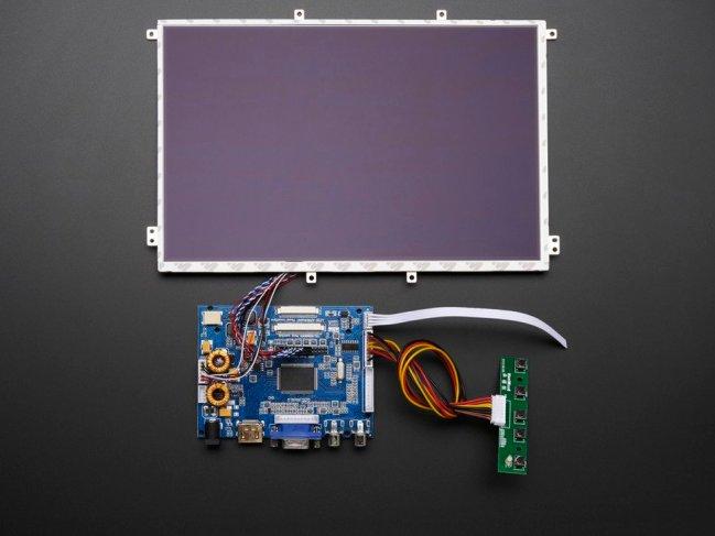 A product image for Adafruit 10.1″ Display & Audio 1280×800 IPS – HDMI/VGA/NTSC/PAL – 1694