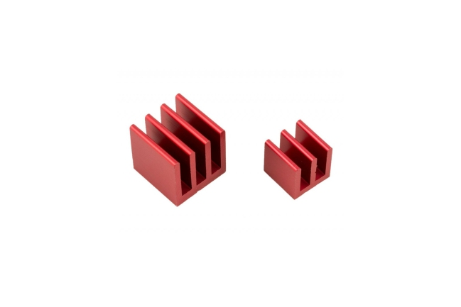 A product image for Raspberry Pi Heat Sink Kit – Red