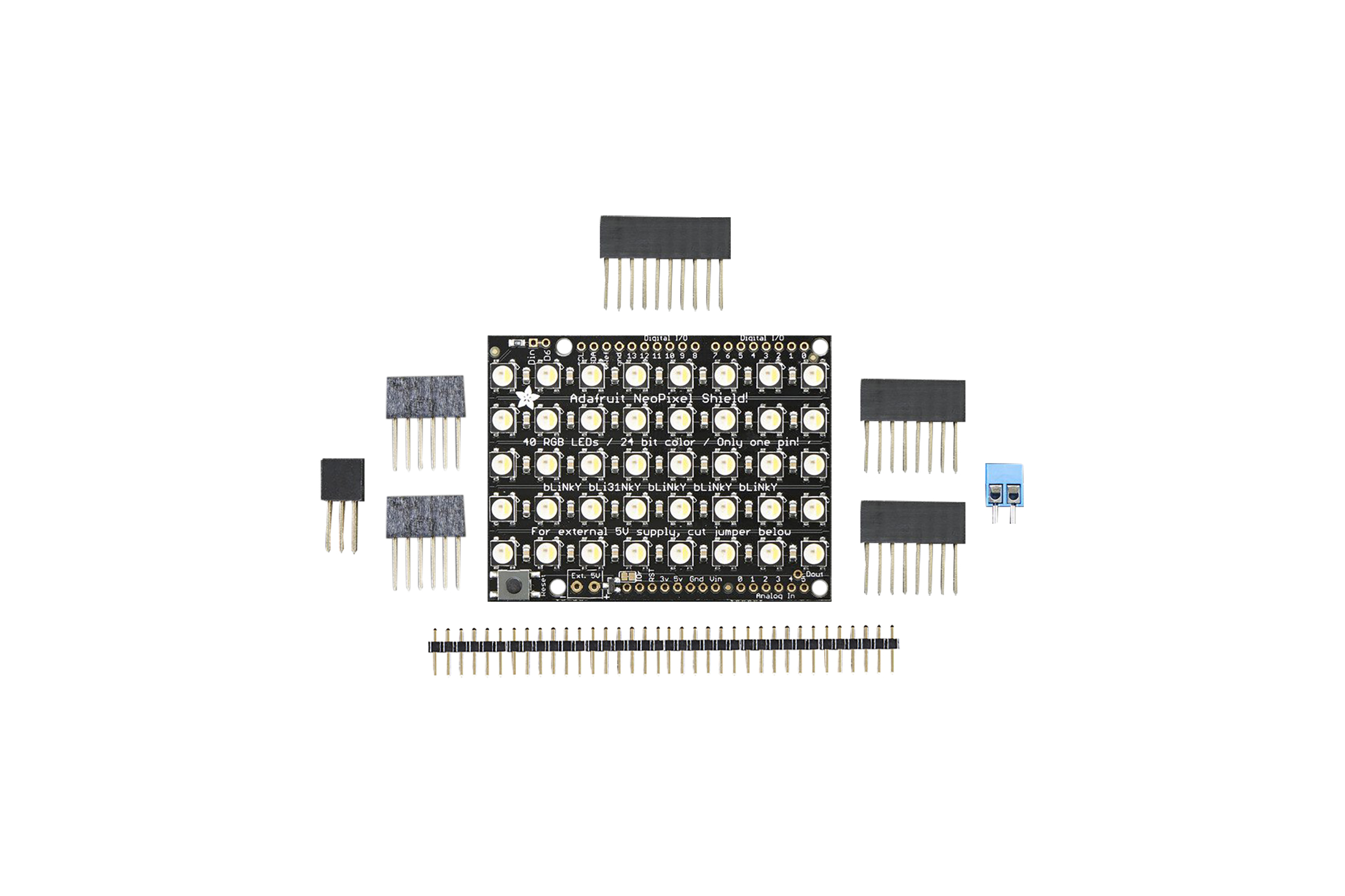 NEOPIXEL SHIELD 40 RGBW LED SHIELD 4500K