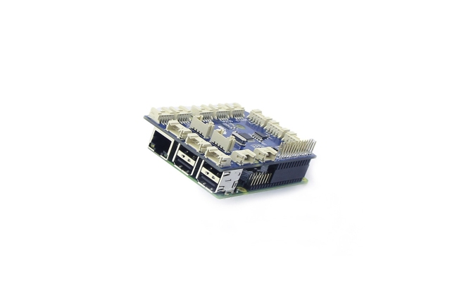 A product image for GROVEPI+ ADD ON BOARD FOR RASPBERRY PI