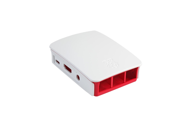 A product image for Official Raspberry Pi 3 Case – White/Red
