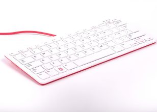 Raspberry Pi Keyboard UK Layout Red/White