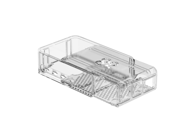 A product image for Okdo Raspberry Pi 4 Slide Case – Clear