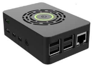 OKdo Raspberry Pi 4 Case with power button - Black