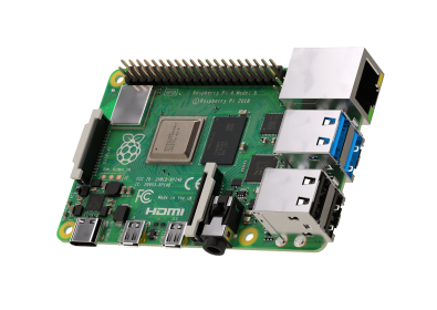 Raspberry Pi 4 Model B board with 4GB LPDDR4 SDRAM