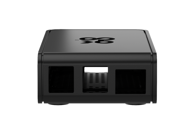 A product image for Okdo Raspberry Pi 4 Slide Case – Black