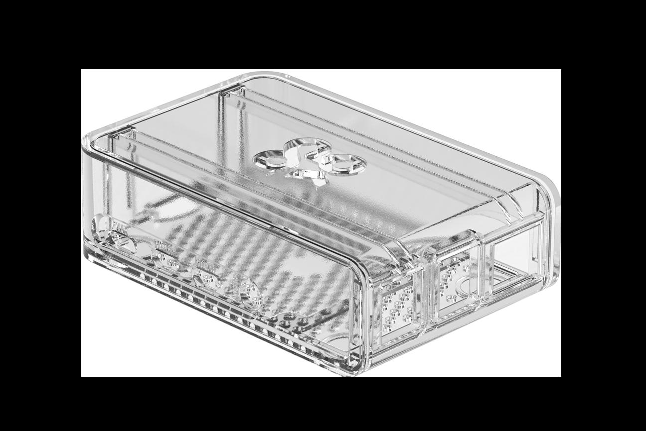 Okdo Raspberry Pi 4 Slide Case - Clear