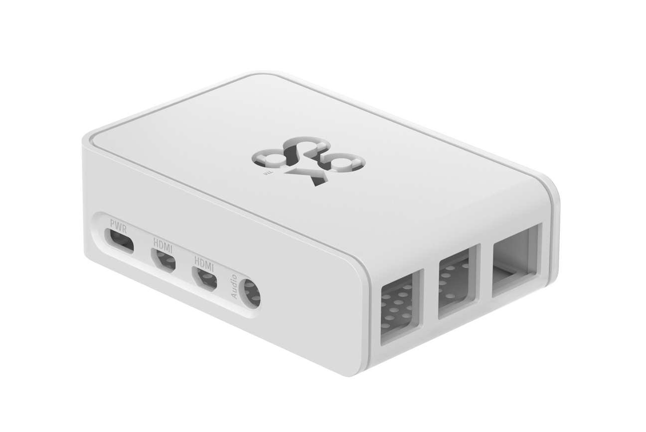 Okdo Raspberry Pi 4 Slide Case - White