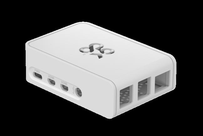 A product image for Okdo Raspberry Pi 4 Slide Case – White