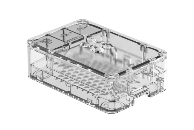 A product image for Okdo Raspberry Pi 4 Case – Clear
