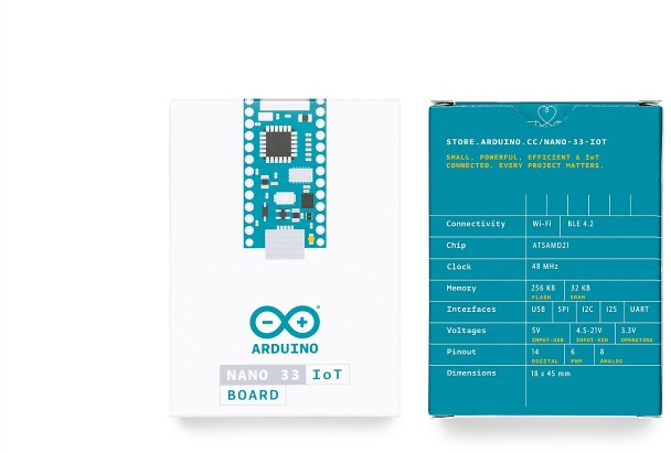 A product image for Nano 33 IoT Wo/Headers
