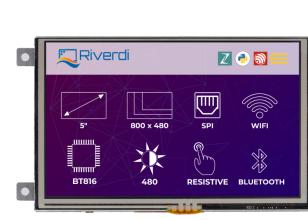 Riverdi RiTFT-50-IOT-RES, high-quality 5 inches