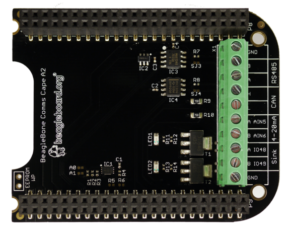 A product image for BeagleBone Comms Cape