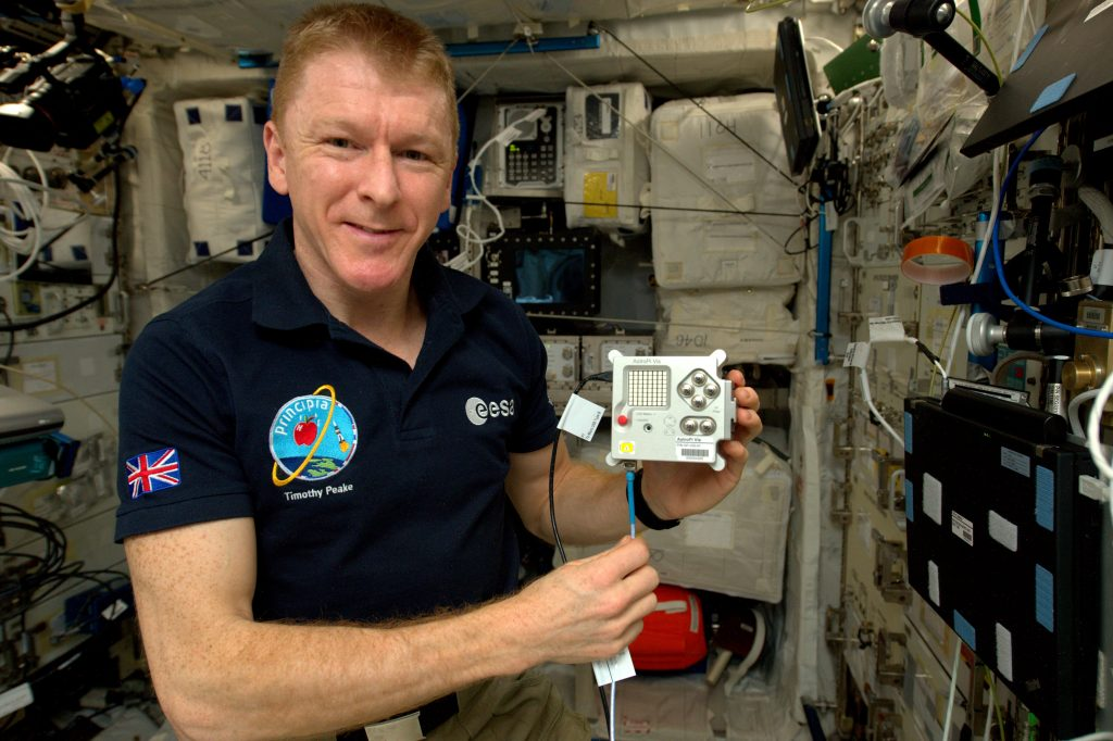 Tim Peak with Astro Pi on the ISS