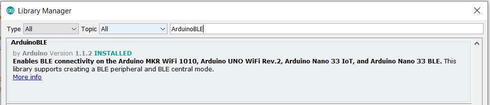 Arduino ble library