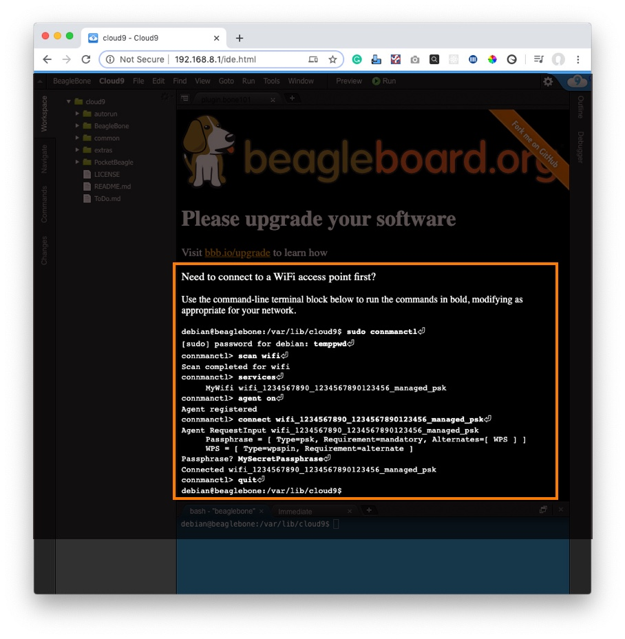 Beagleboard connect to wifi