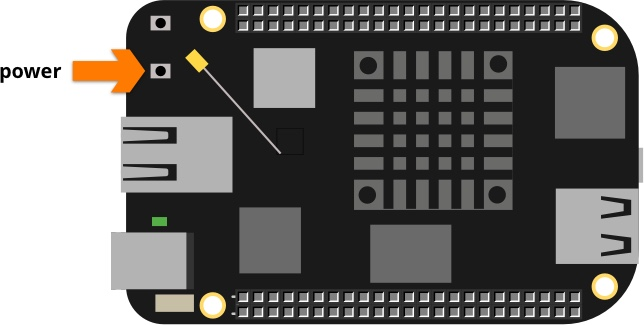 Beaglebone AI power button