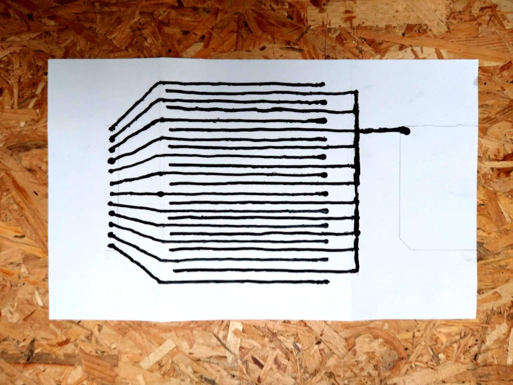 bare conductive painted circuit