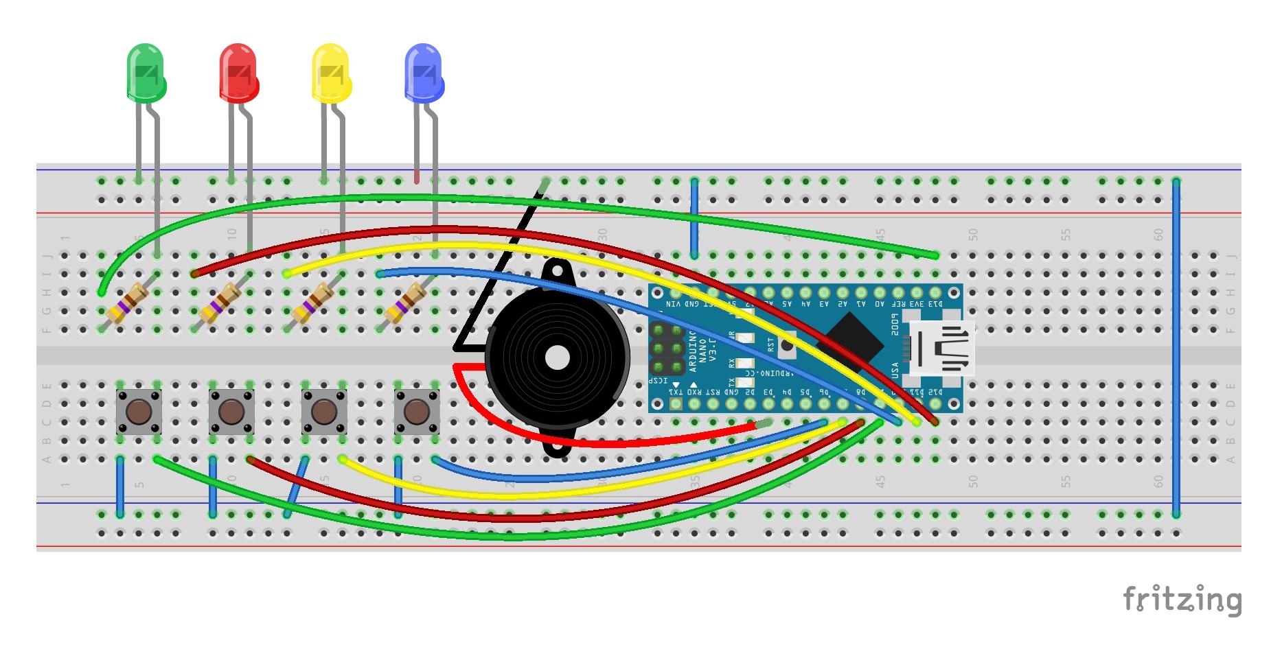 simon says arduino circuit