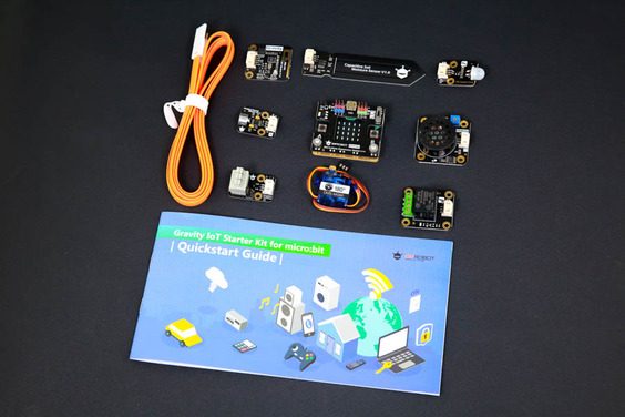 A product image for DFRobot Gravity IoT Starter Kit for micro:bit