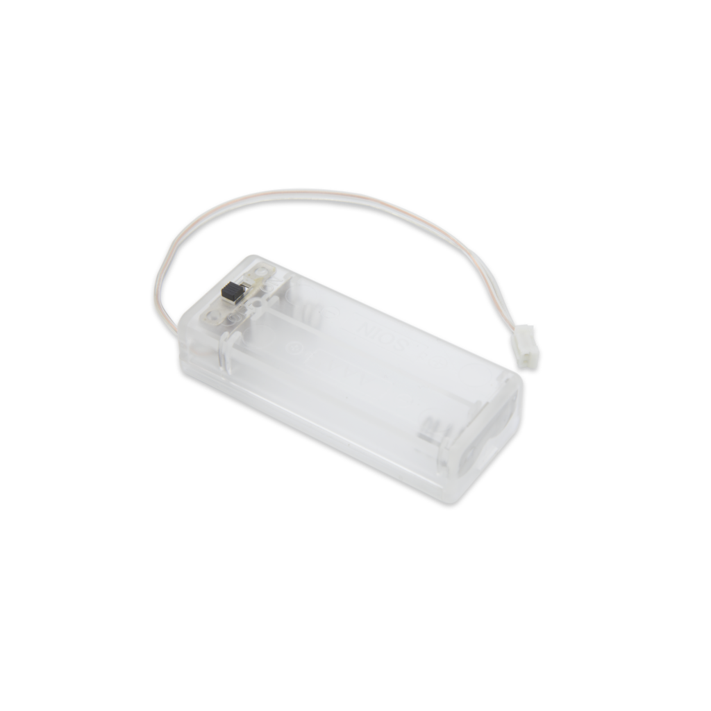 Pi Supply Clear Battery Box 2 x AAA for micro:bit