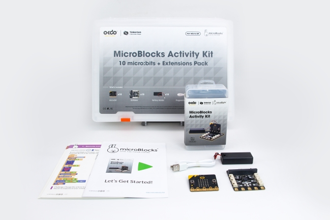 A product image for OKdo MicroBlocks Classroom Activity Kit
