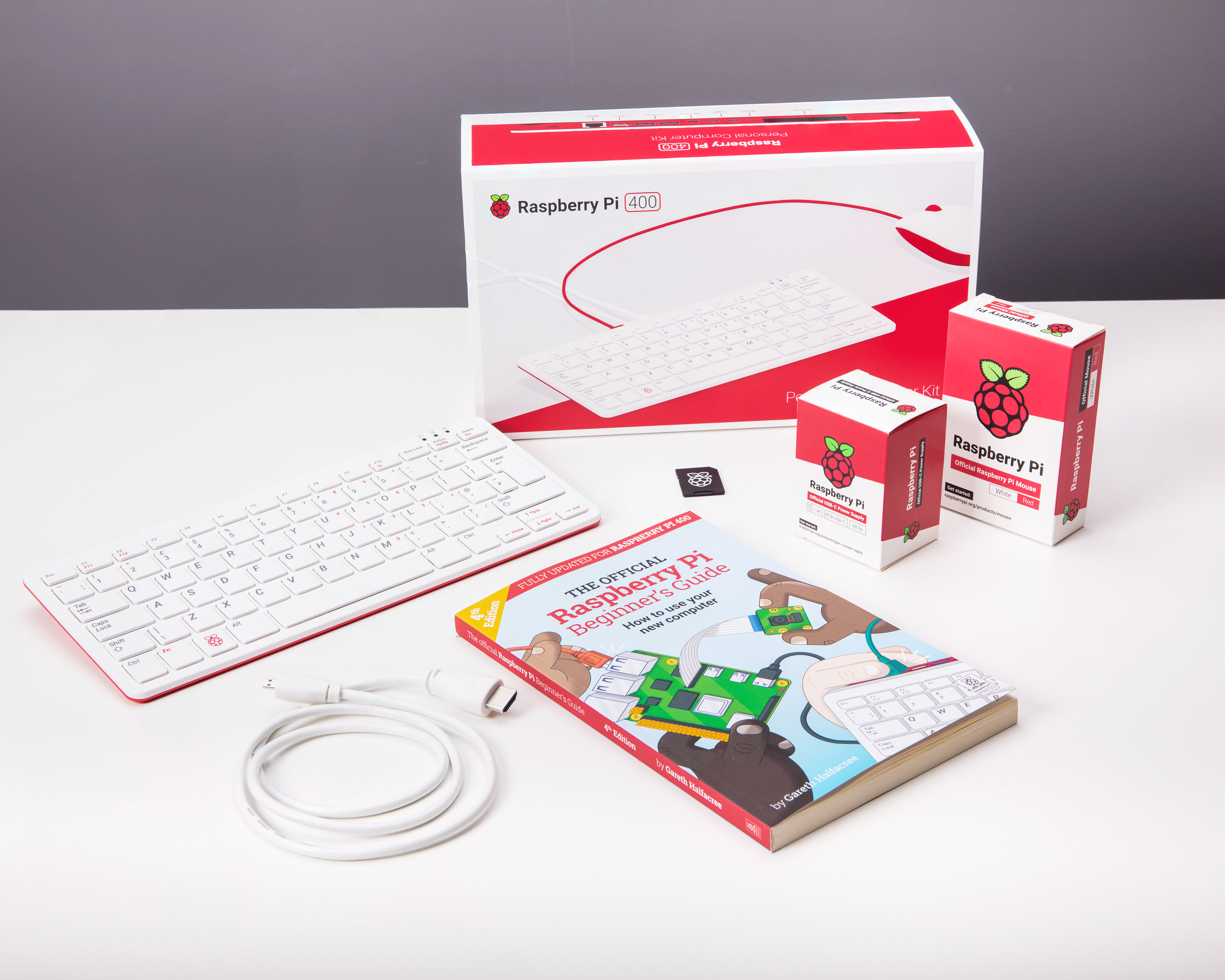 Raspberry Pi 400 All-in-One Personal Computer Kit - UK Keyboard Layout