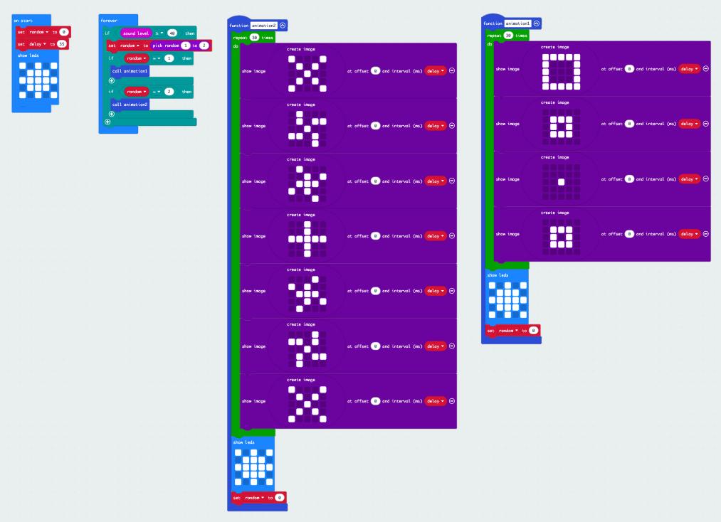 makecode sound reactive xmas decor