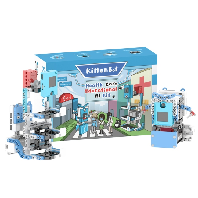 A product image for KittenBot Health Care Educational 9-in-1 AI Kit