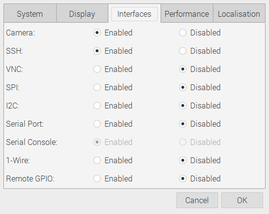Raspberry Pi camera preferences