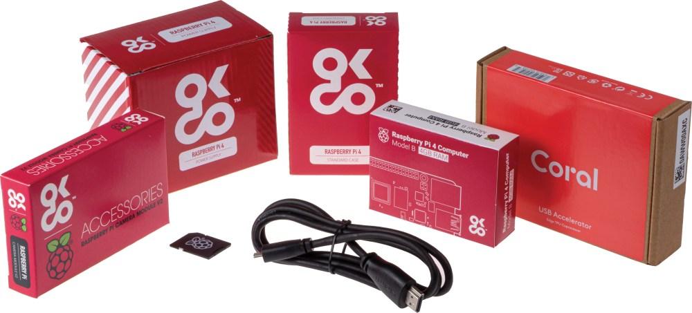 Raspberry Pi AI Starter Kit with Raspberry Pi 4 4GB & Coral USB Accelerator