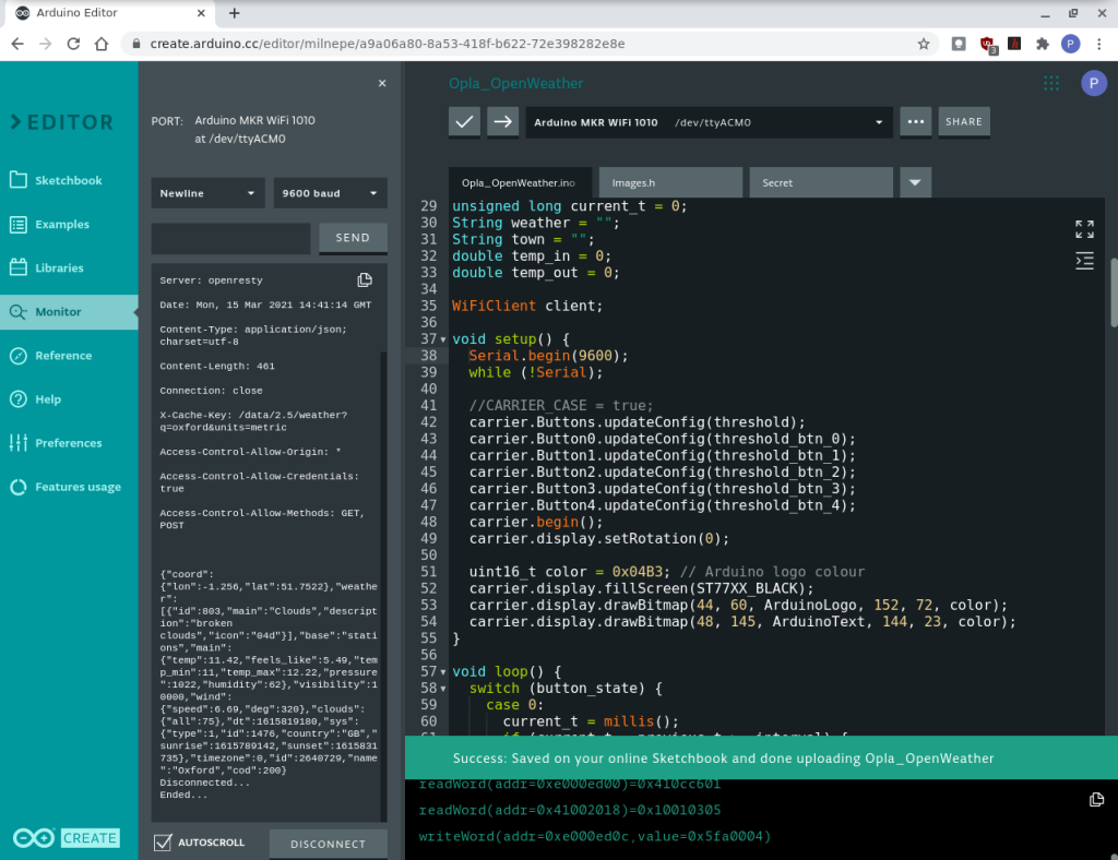 arduino web editor