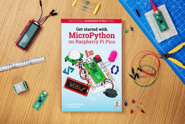 A product image for Official Raspberry Pi Guide: Getting Started with MicroPython on Raspberry Pi Pico
