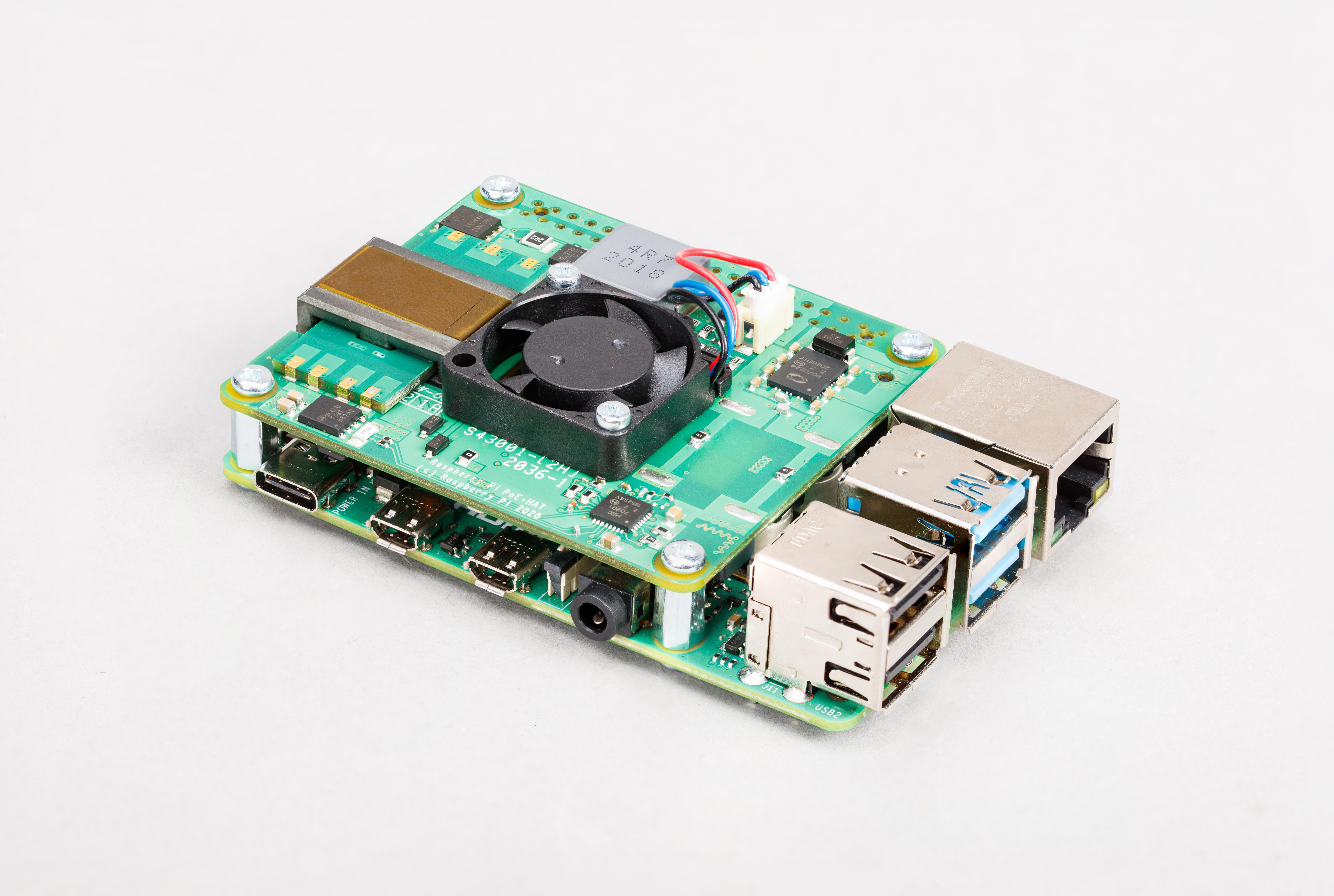 Raspberry Pi POE + Hat