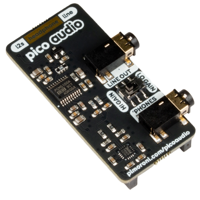 A product image for Pimoroni Pico Audio Pack (Line-Out and Headphone Amp)