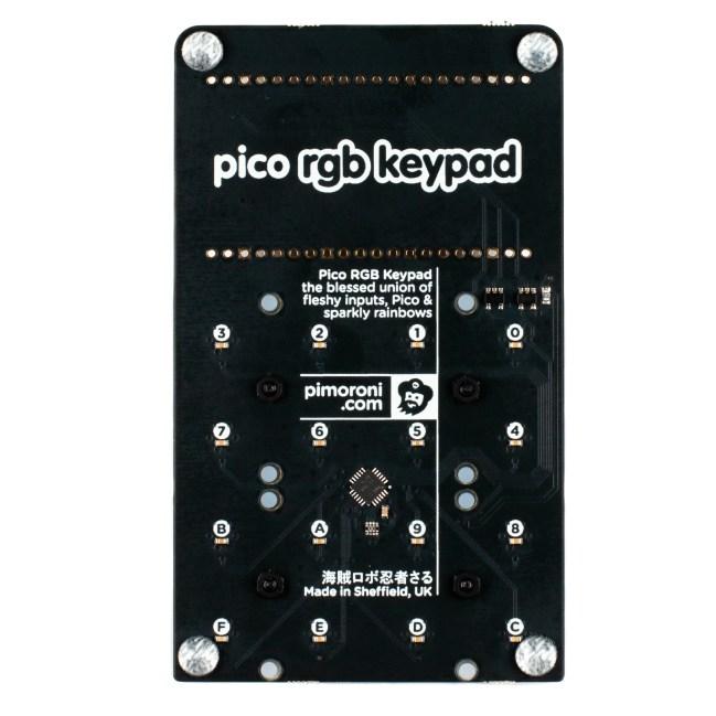A product image for Pimoroni Pico RGB Keypad Base