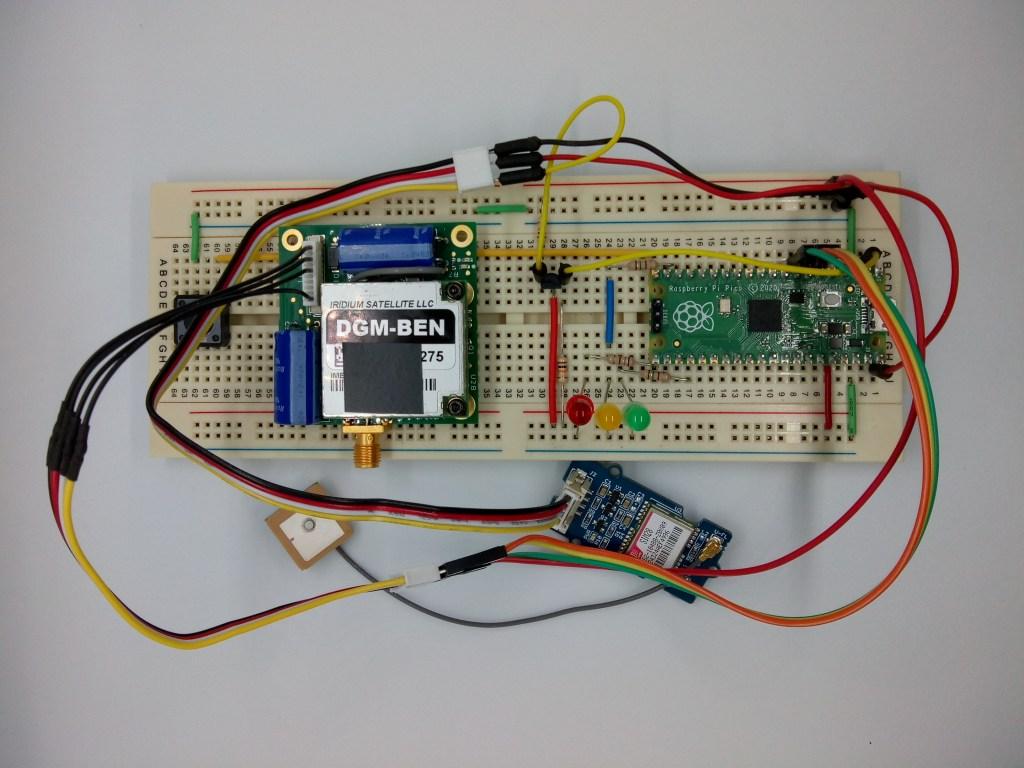 rockblock pico GPS circuit