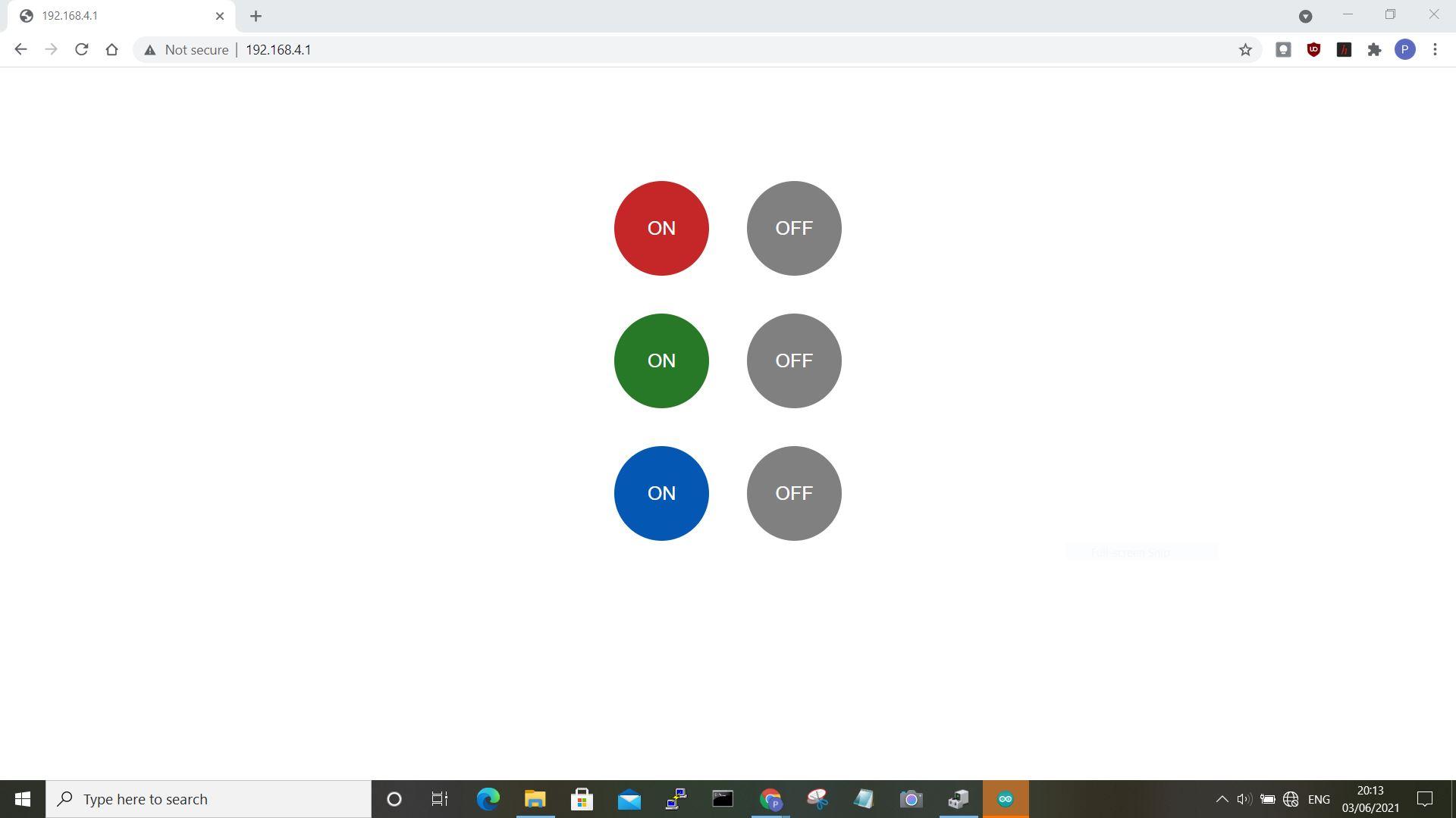 web RGB interface