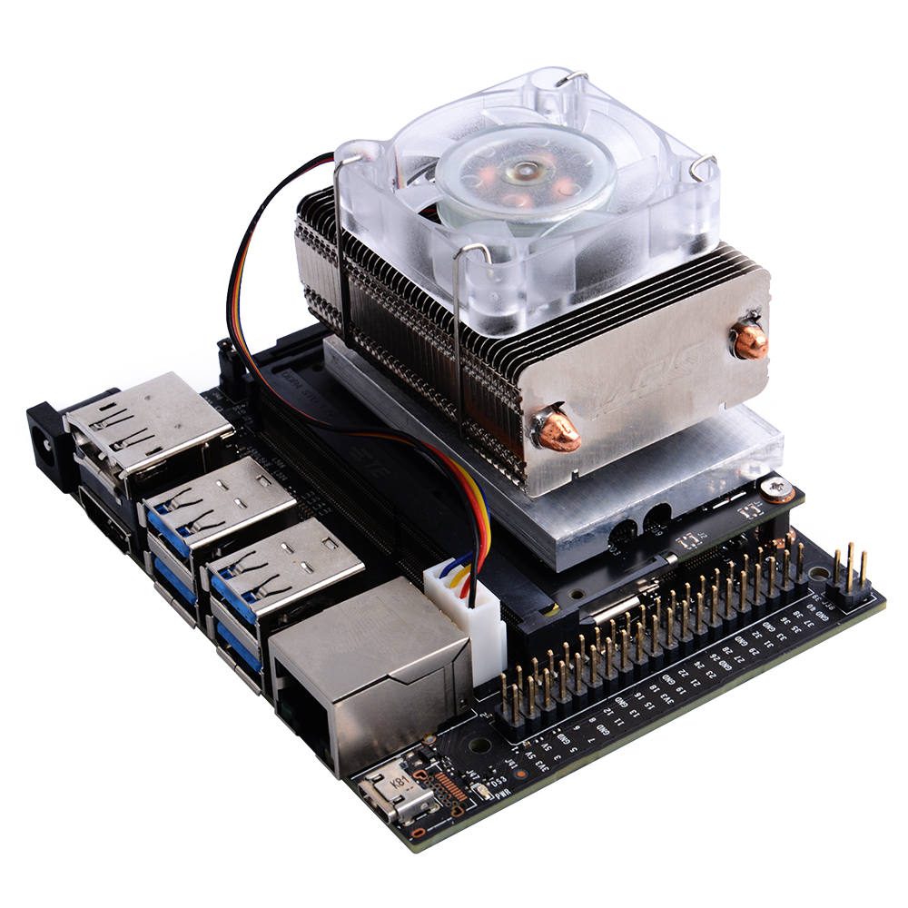 ICE-Tower CPU Cooling Fan with RGB LED for NVIDIA Jetson Nano