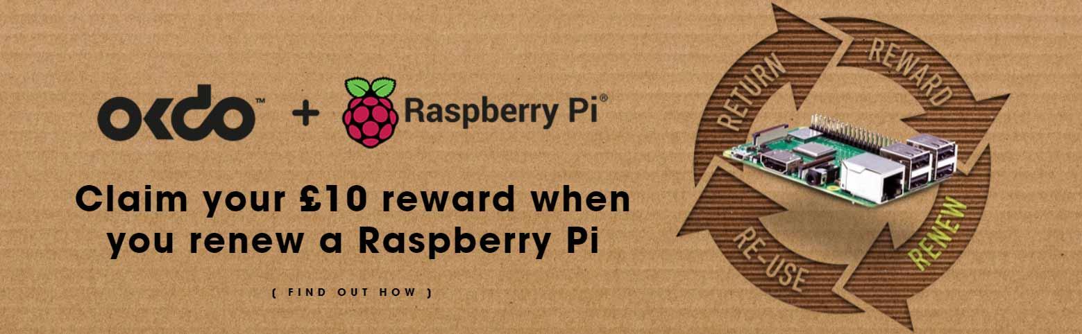 OKdo Renew - receive a £10 reward when you recycle a Raspberry Pi