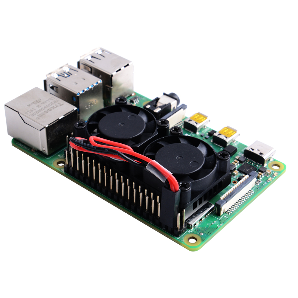 Dual Fan Cooling Kit for Raspberry Pi 4 B /3B+