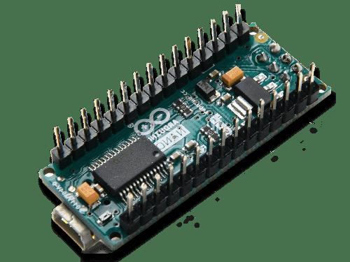 Flat lay shot of the Arduino Nano board