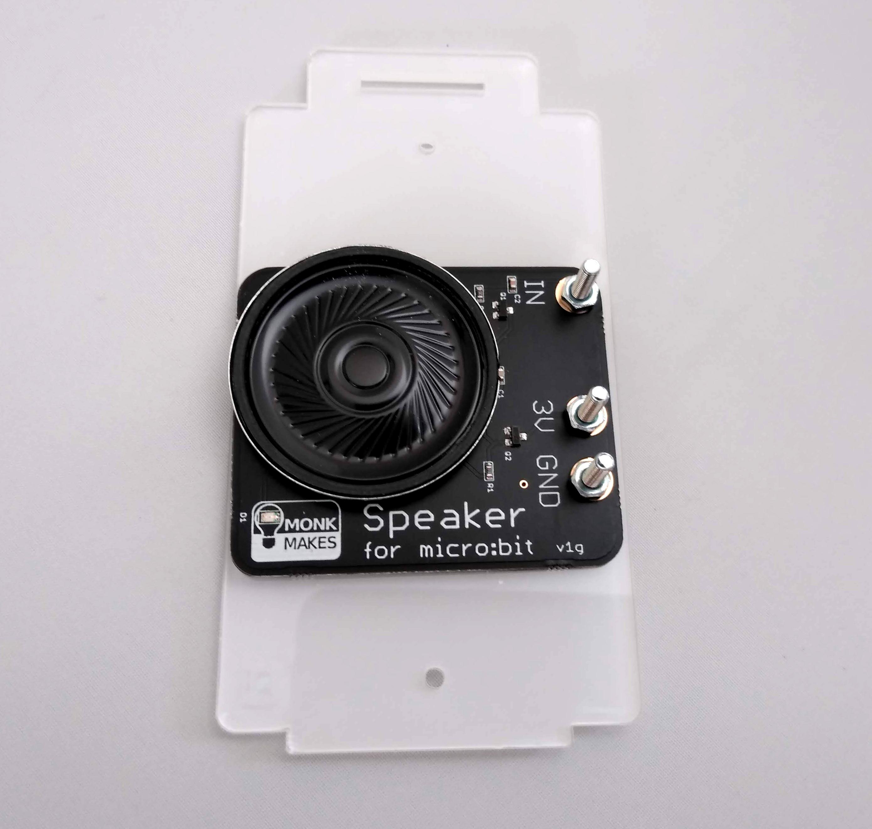 micro:bit speaker attached