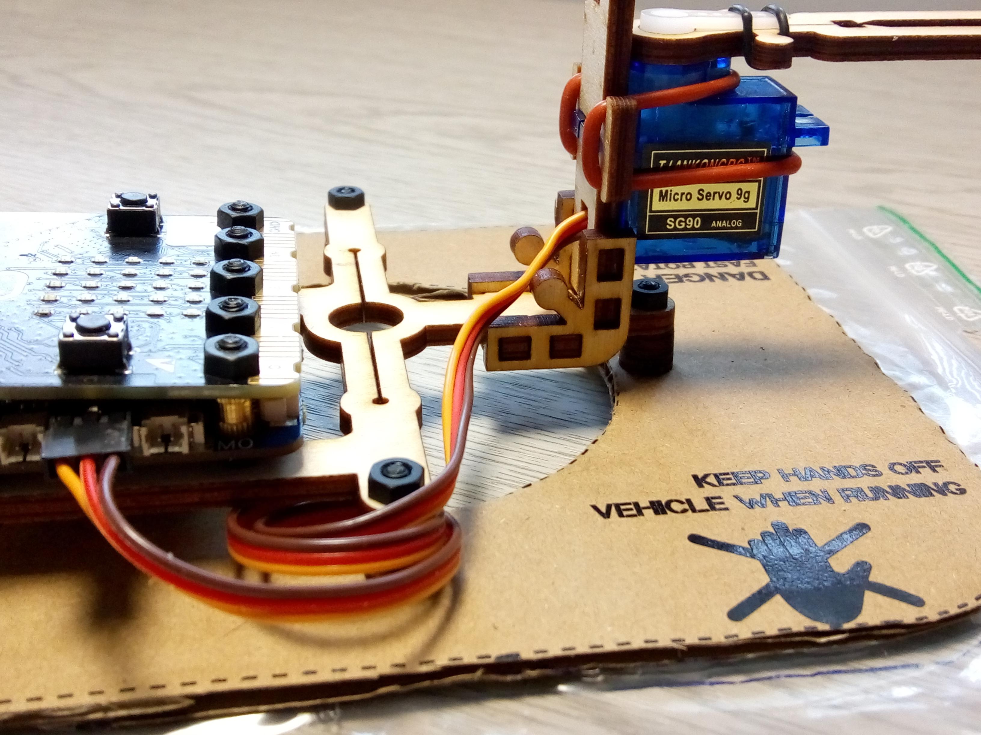 hover:bit rudder assembly